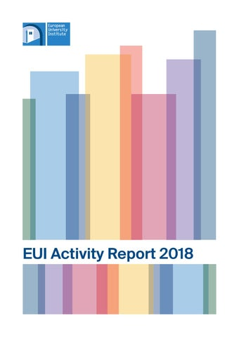 EUI Activity Report on 2018 by European University Institute - issuu