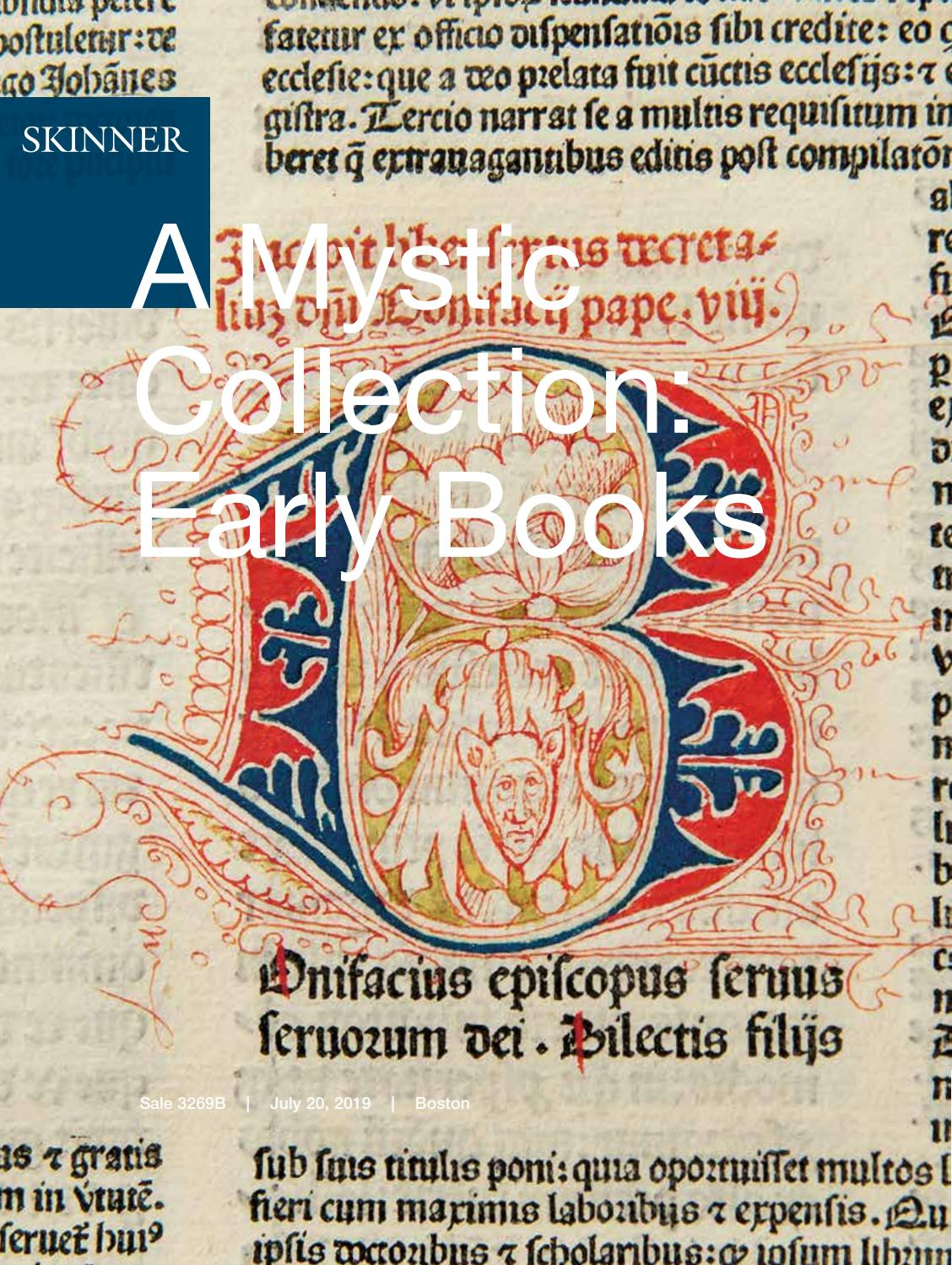 A Mystic Collection: Early Books | Skinner Auction 3269B