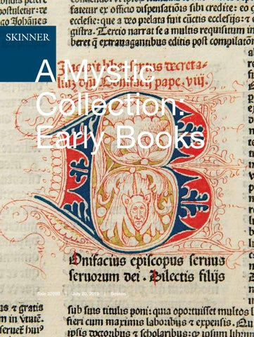 A Mystic Collection: Early Books | Skinner Auction 3269B by