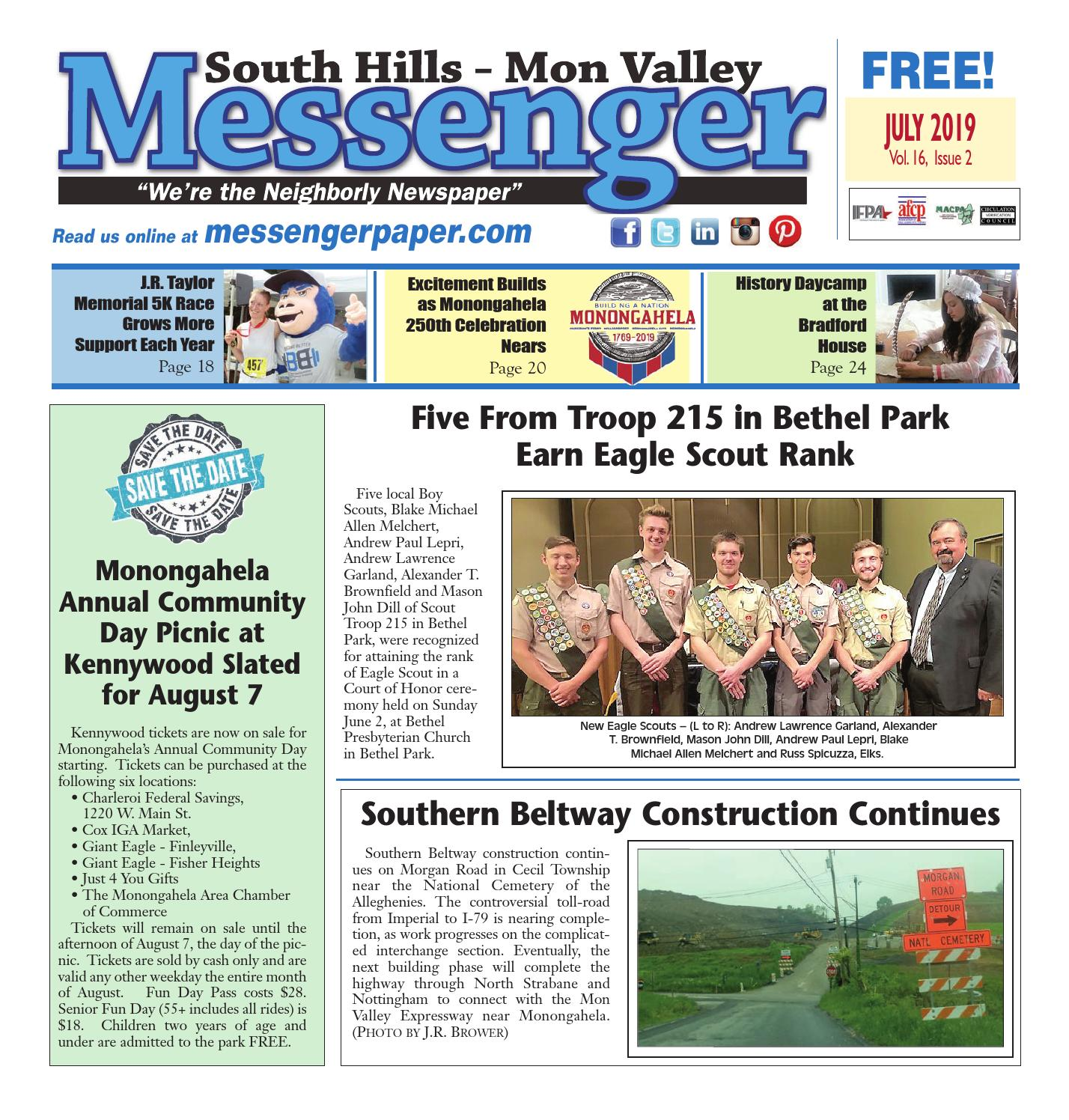 South Hills Mon Valley Messenger July 2019 by South Hills