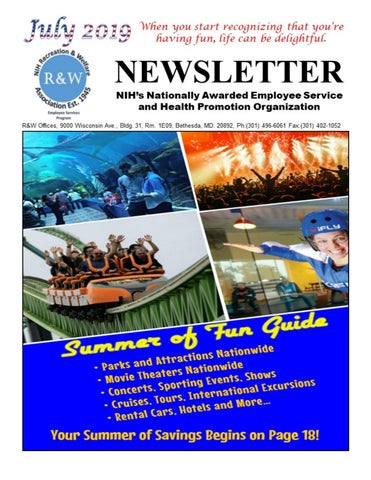 July 2019 NIH Digital Newsletter And Summer of Fun Guide by NIH R&W