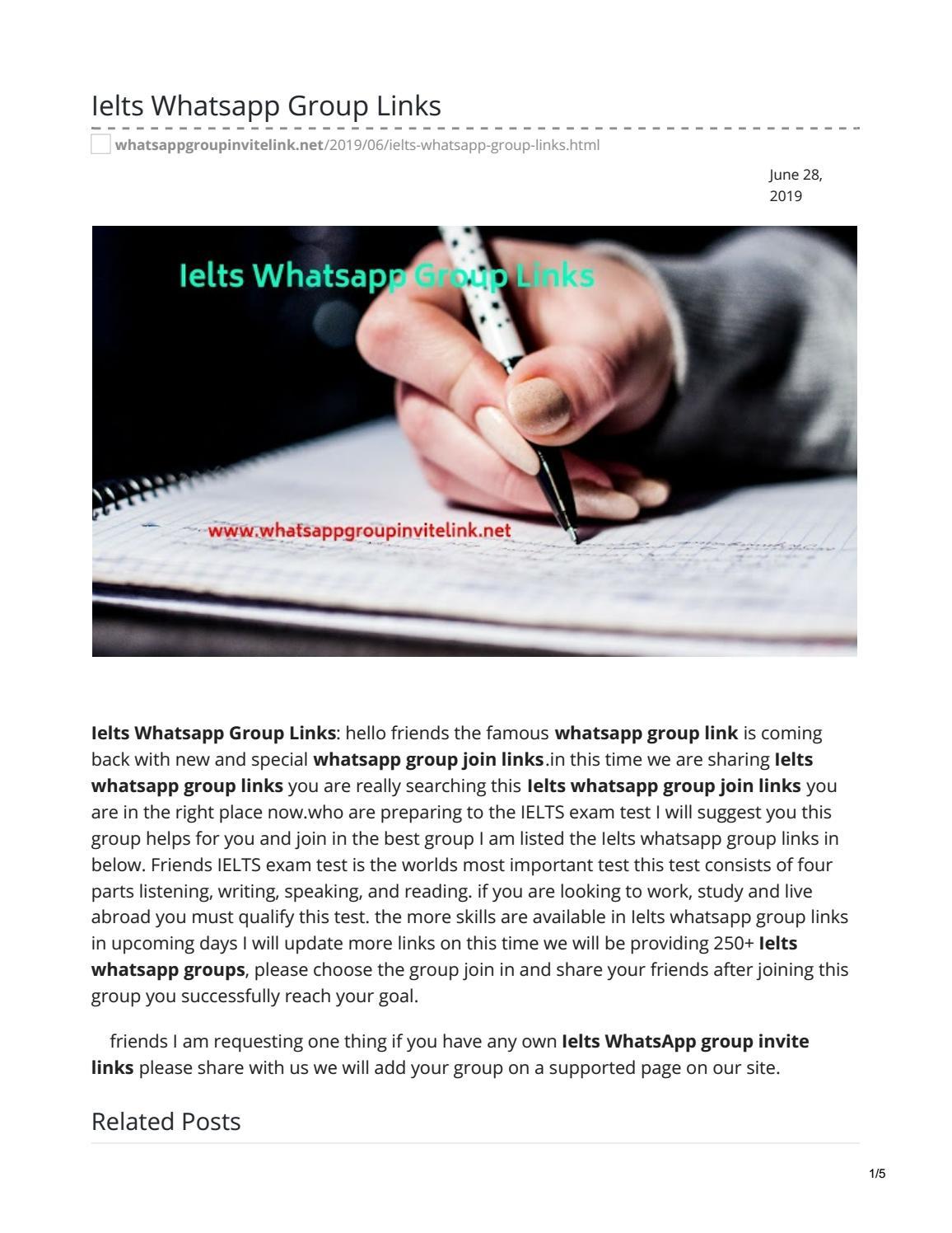 Ielts Whatsapp Group Links by whatsappgrouplink77 - issuu