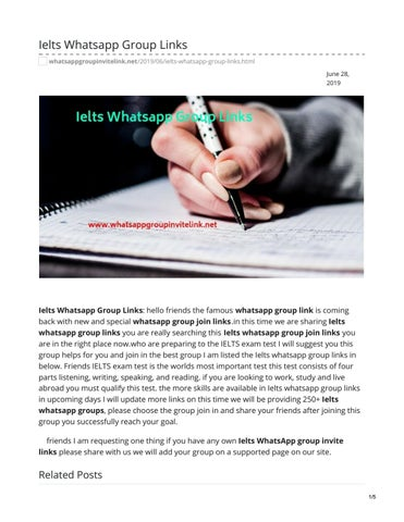 Ielts Whatsapp Group Links by whatsappgrouplink77 - issuu