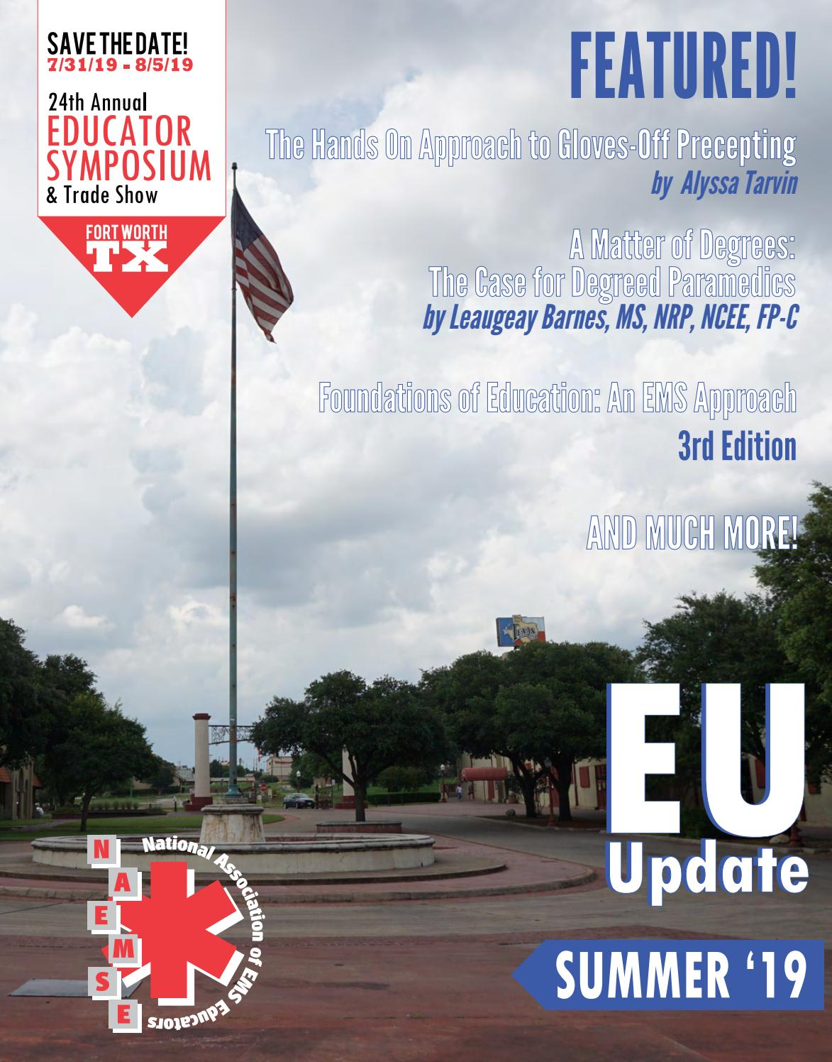 Educator Update - Summer 2019 by National Association of EMS