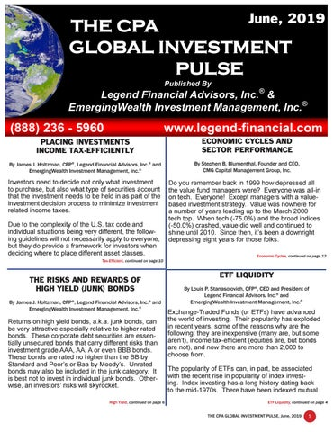 The Global Investment Pulse June 2019 Issue by Legend