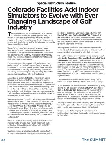 Page 24 of Simulators Open New Doors for Colorado Golf Facilities