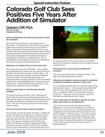 Page 25 of Simulators Open New Doors for Colorado Golf Facilities