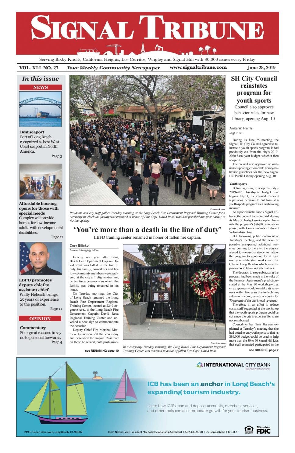 June 28, 2019 | Vol  XLI No  27 by Signal Tribune - issuu