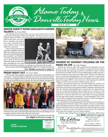 2019 JULY ~ ALAMO TODAY & DANVILLE TODAY NEWS by The Editors