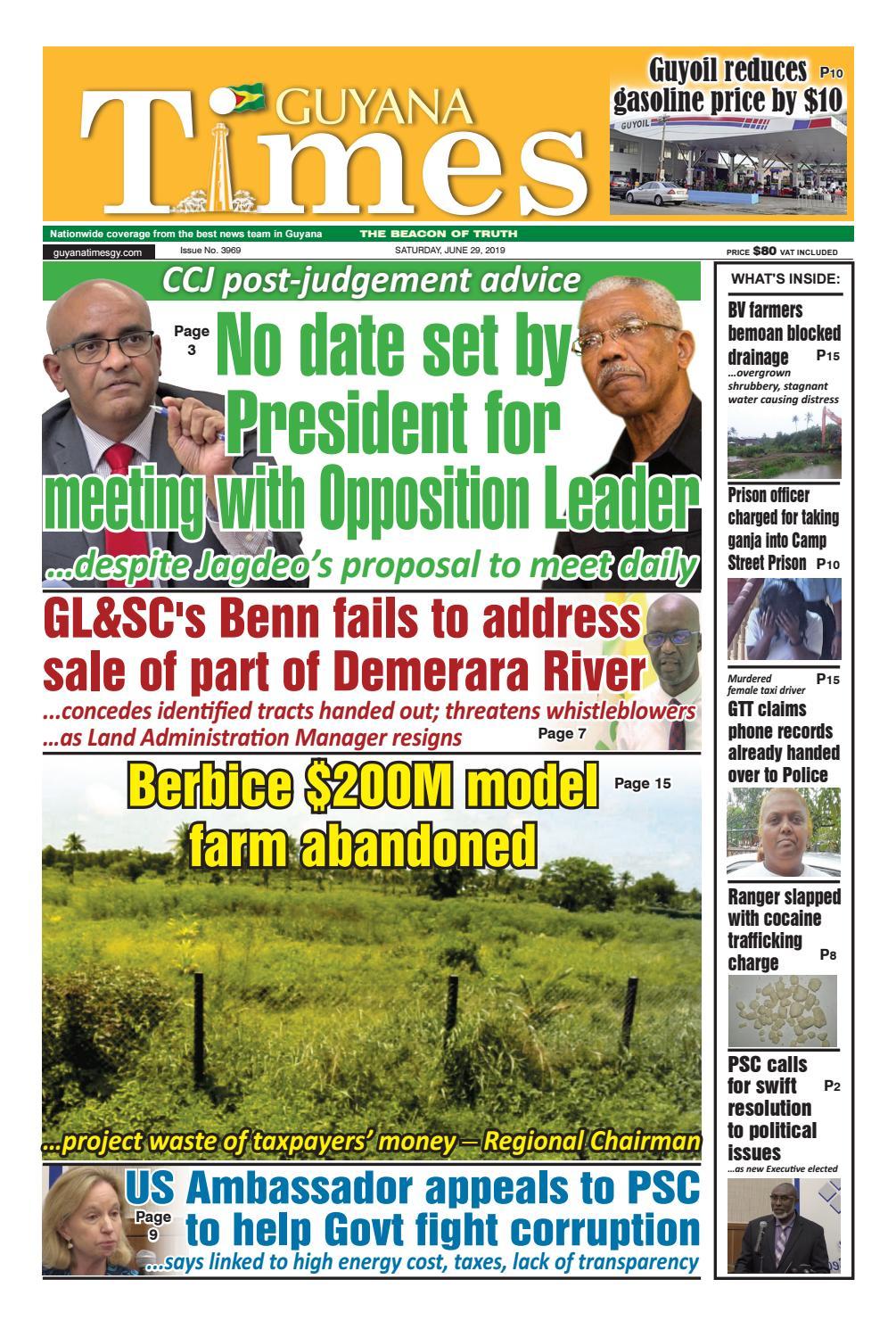 Guyana Times Saturday June 29, 2019 by Gytimes - issuu