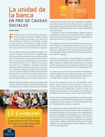 Page 12 of La unidad de la banca EN PRO DE CAUSAS SOCIALES