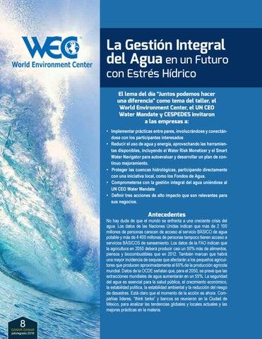 Page 8 of La Gestión Integral del Agua en un Futuro con Estrés Hídrico