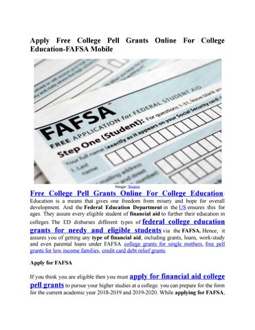 apply for grants for college online for free