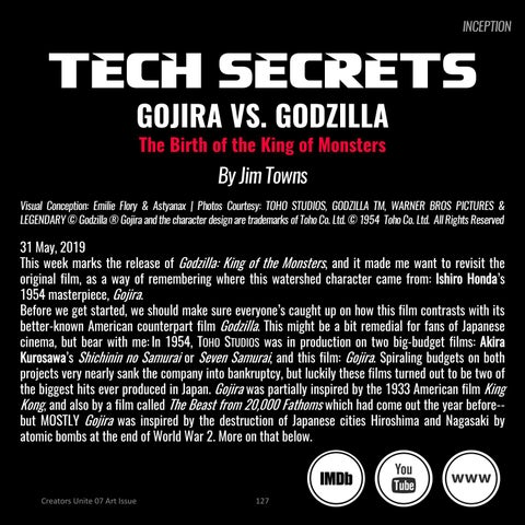 Page 127 of Gojira vs. Godzilla, the Birth of the King of Monsters by Jim Towns