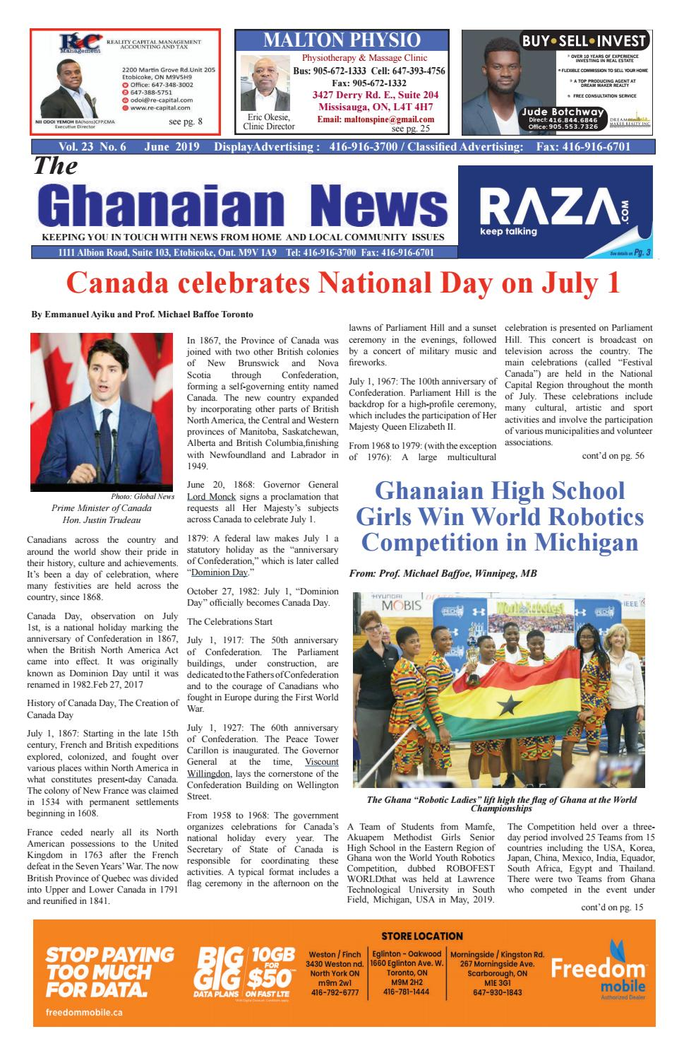 GHANAIAN NEWS - JUNE 2019 by Roots Change - issuu