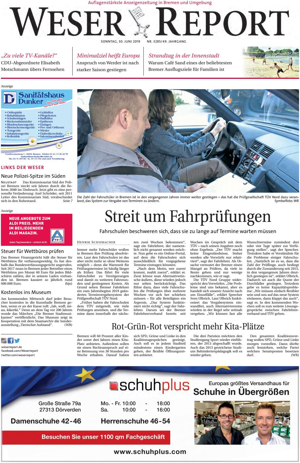 Weser Report Links der Weser vom 30.06.2019 by KPS