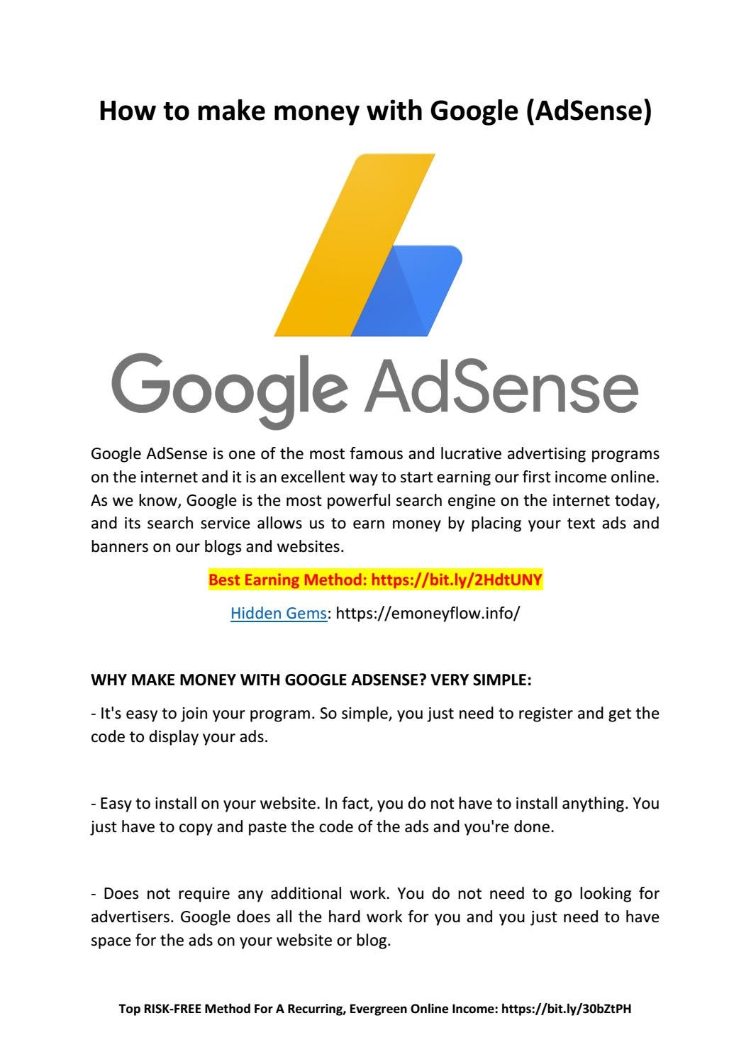How to make money with Google by BarryBaskin   issuu