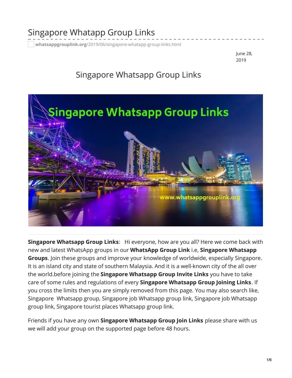 Singapore Whatsapp Group Links by whatsappgrouplinks77 - issuu