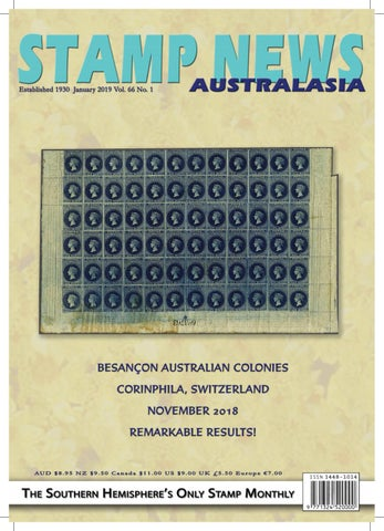 Stamp News Australasia - January 2019 by Stamp News