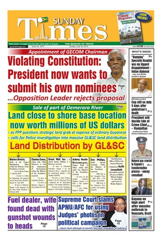 Guyana Times Sunday, June 30, 2019 by Gytimes - issuu