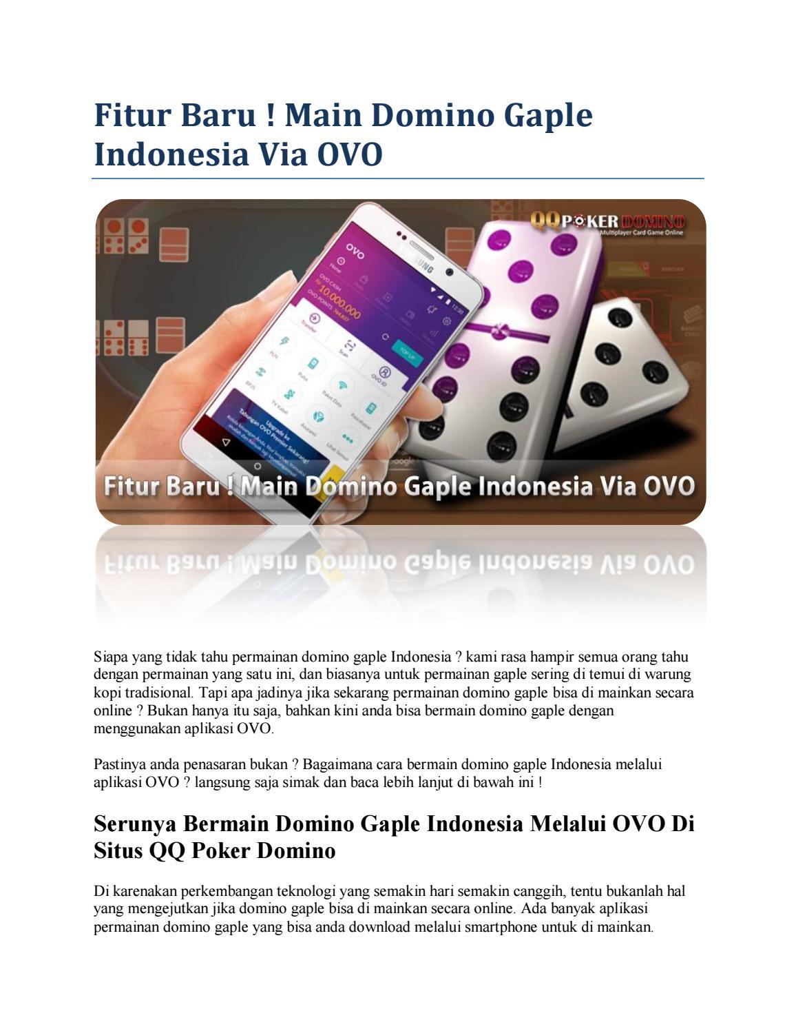 Fitur Baru Main Domino Gaple Indonesia Via Ovo By Anan Issuu