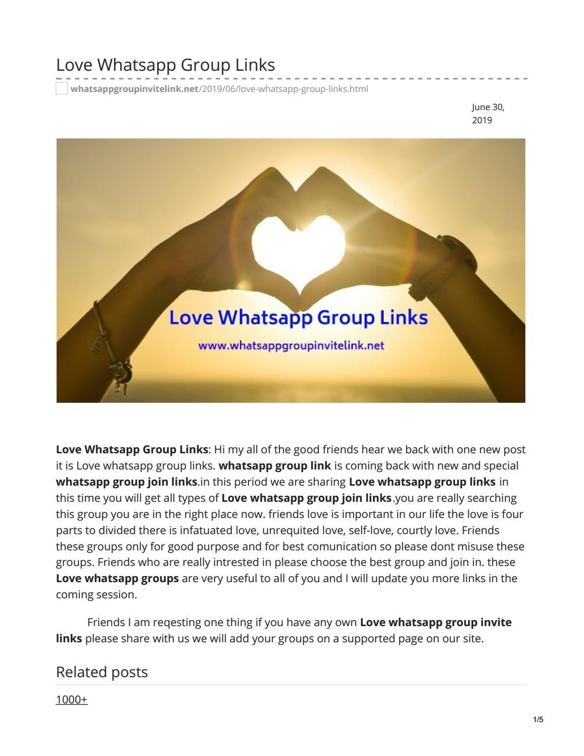 Love Whatsapp Group Links by whatsappgrouplink77 - issuu
