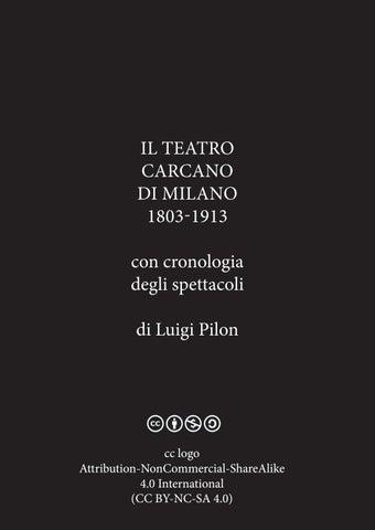 Vicere Antichi Persiani.Il Teatro Carcano Di Milano Di Luigi Pilon By Carta Design