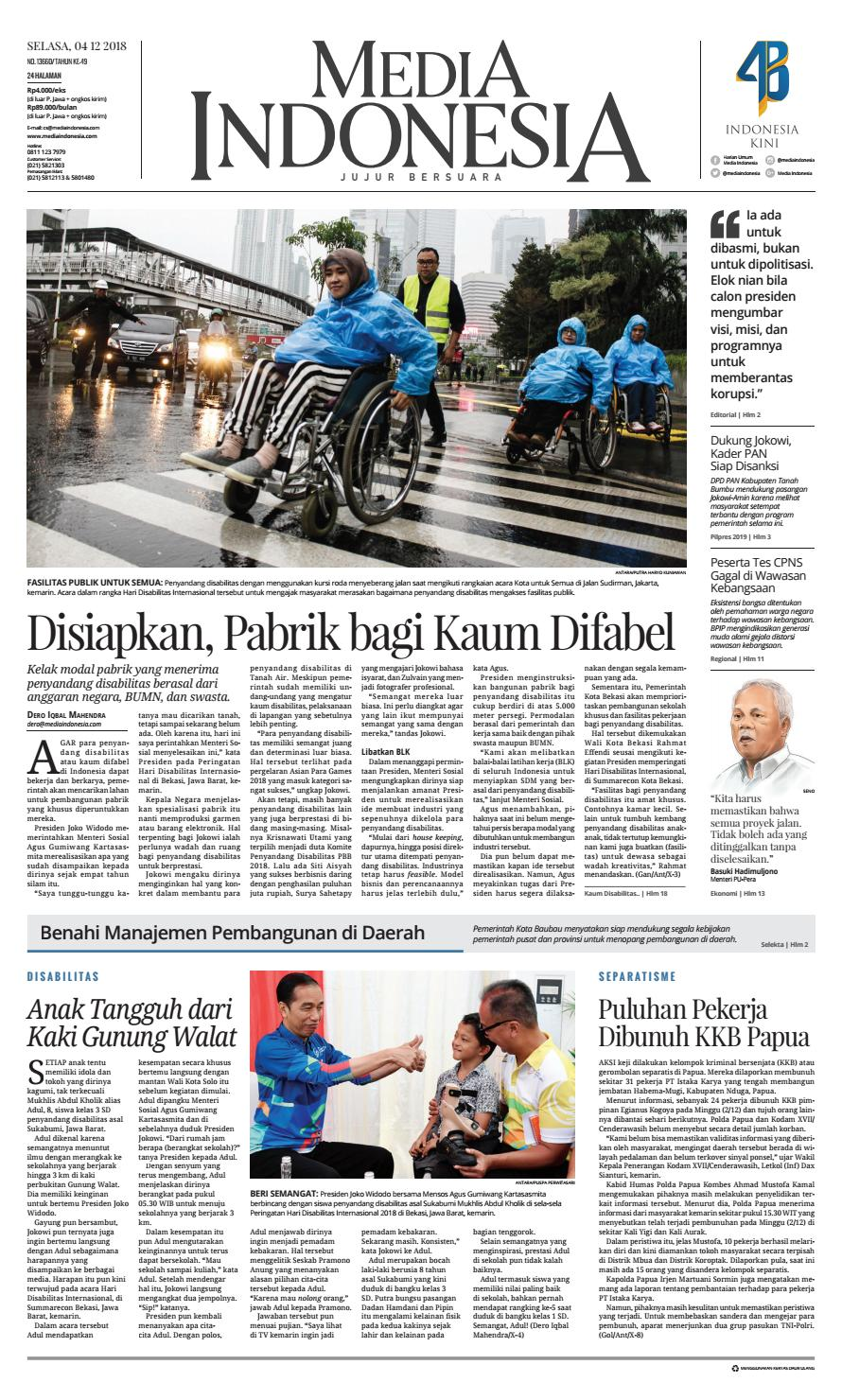 Media Indonesia 4 Desember 2018 By Mediaindonesia Issuu