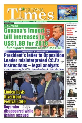 Guyana Times Monday July 1, 2019 by Gytimes - issuu