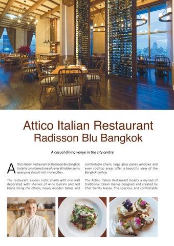 Page 20 of Attico Italian Restaurant, Radisson Blu Bangkok