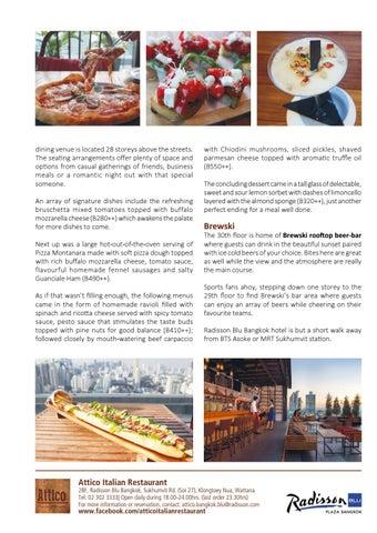 Page 21 of Attico Italian Restaurant, Radisson Blu Bangkok