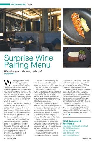 Page 62 of Surprise Wine Pairing Menu
