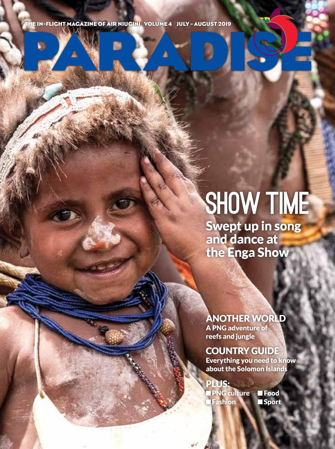 Paradise: the in-flight magazine of Air Niugini, July/August 2019 by
