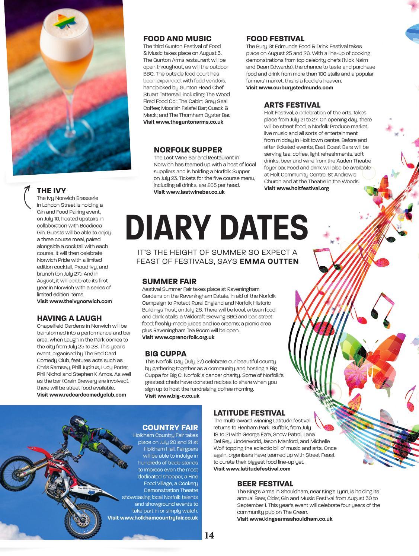 Feast Norfolk Magazine Issue 38 Julyaugust 2019 By Feast