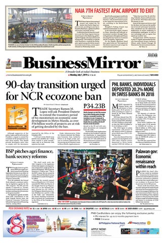 BusinessMirror July 01, 2019 by BusinessMirror - issuu