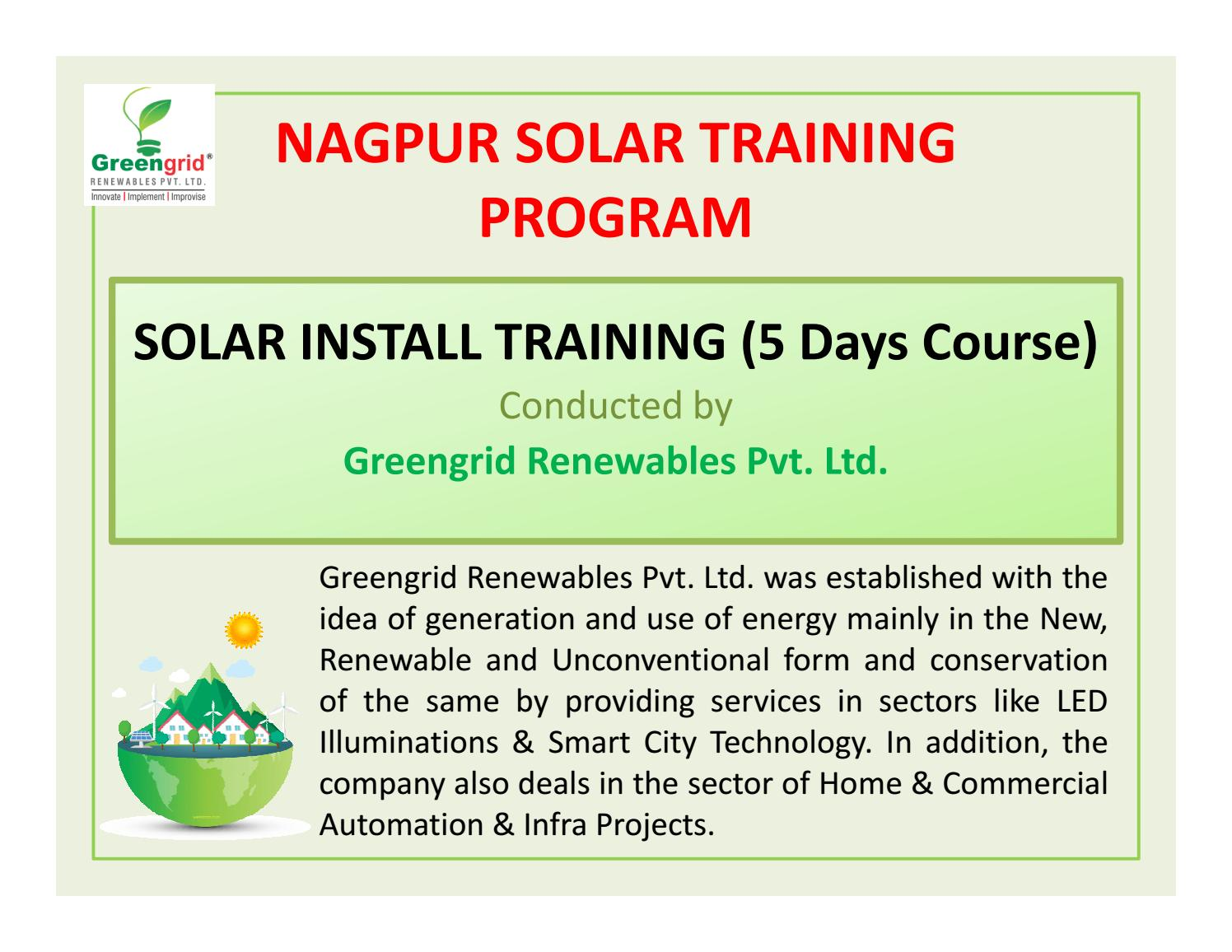 Solar energy training in Nagpur by greengridinfra in - issuu