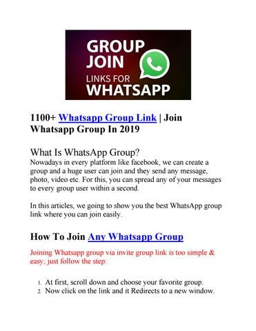 1100+ Whatsapp Group Link Join Whatsapp Group In 2019 by
