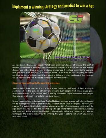 Football betting information schwesternverband bettingen burton
