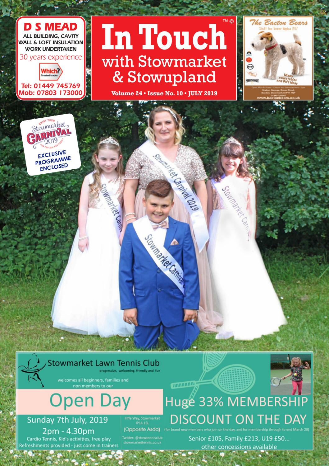 In Touch News with Stowmarket July 2019 by Mansion House