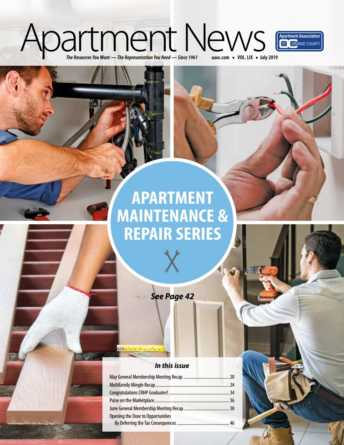 July 2019 Apartment News Magazine by Apartment Association