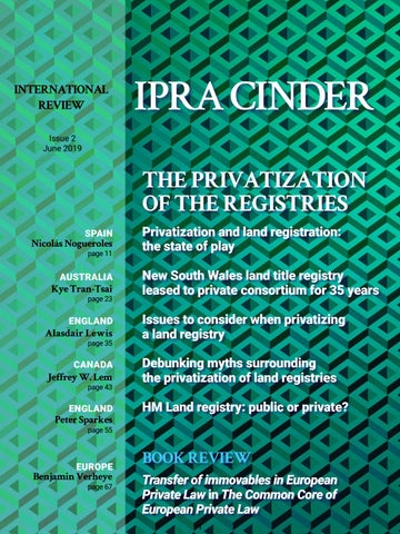 Land Registry Restrictions >> Ipra Cinder International Review By Sergio Jacomino Issuu