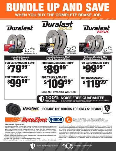AutoZone Duralast Brake Bundle Promotion by NIADA - issuu