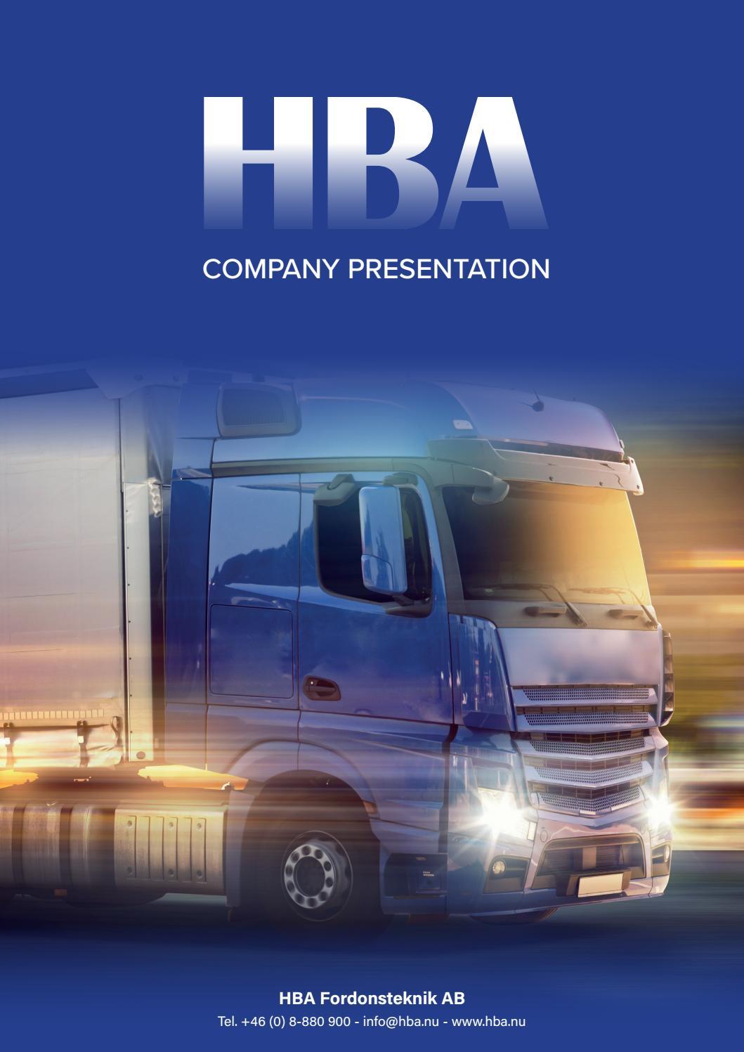 HBA Company presentation by HBA Fordonsteknik - issuu