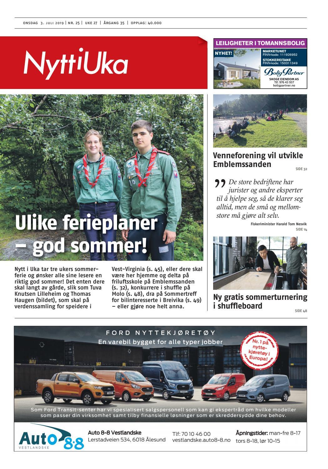 833e7f1e1 Nytt i Uka 03.07.19 by Nytt i Uka - issuu