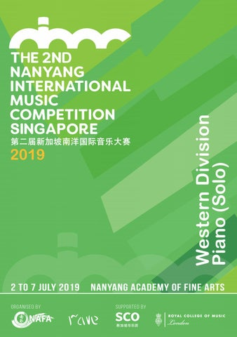 The 2nd Nanyang International Music Competition 2019