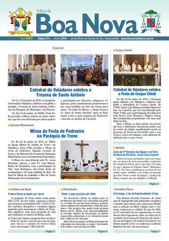 4c8e8ef6dff2 Folha da Boa Nova - Edição Julho 2019 by Dicoese de Governador ...