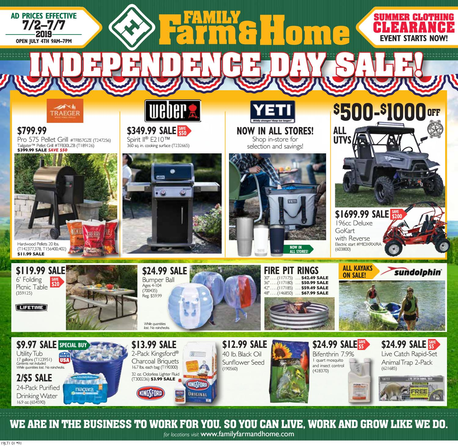 Family Farm & Home 19JLT1 Ad (Effective July 2-7, 2019) by