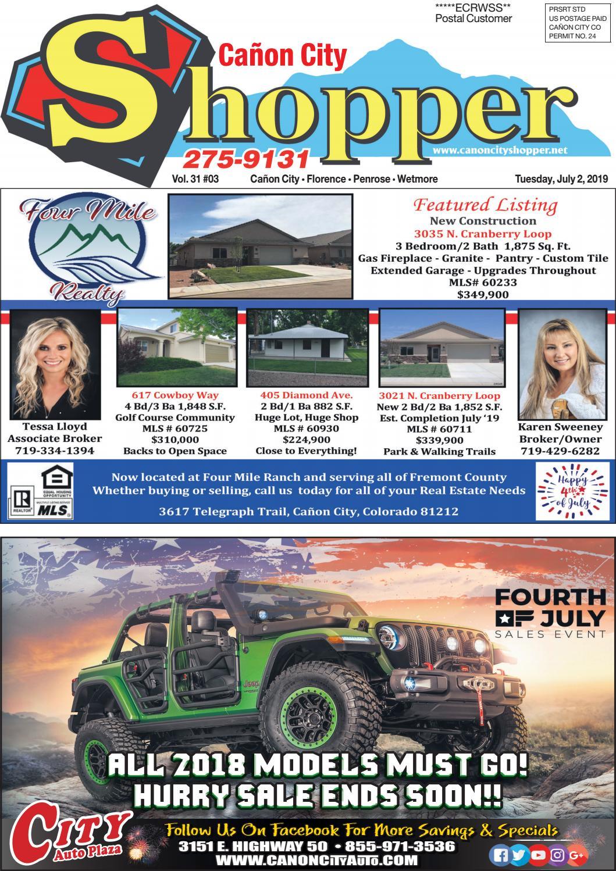 Cañon City Shopper ~ July 2, 2019 by Prairie Mountain Media