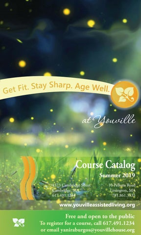 Youville Course Catalog - Summer 2019 | Youville Assisted Living