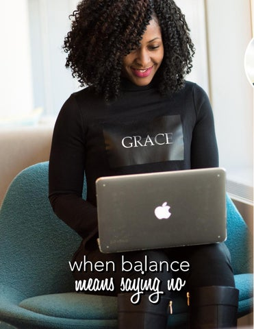 "Page 30 of When Balance Means Saying ""NO"""